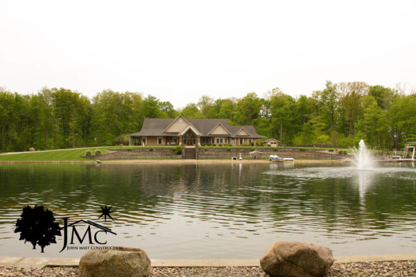 Large House in Woods with Pond in Bremen, Indiana