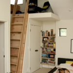 Wood Ladder to Loft in Bedroom in Goshen, Indiana