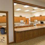 Cafateria style kitchen in church in Goshen, Indiana