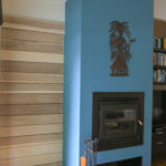 Fireplace with Hidden Sliding Wall in Goshen, Indiana