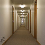 Hallway with classrooms in Goshen, Indiana