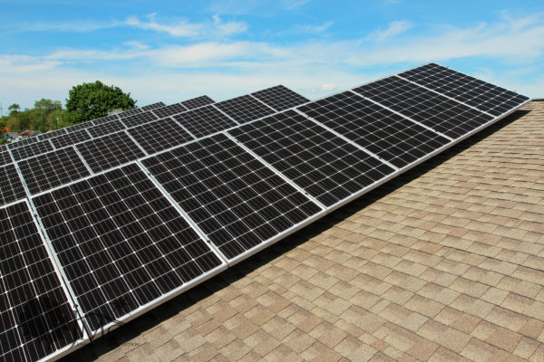 Roof mounted solar panels in Nappanee, Indiana